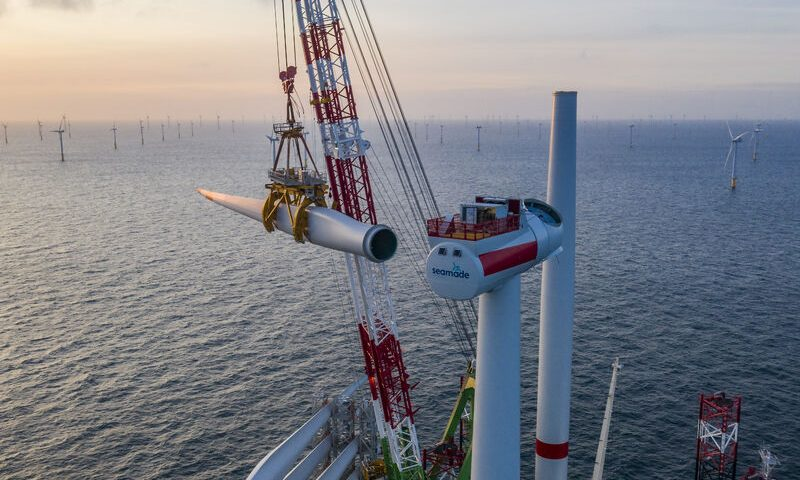 DEME Completes Last Turbine Installation for SeaMade OWF in Belgium