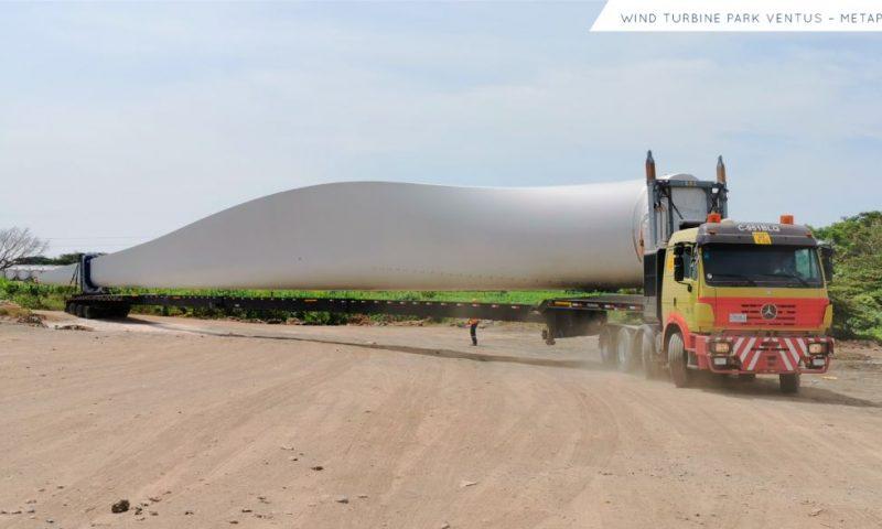 Wind Turbine Park Ventus in Metapán, El Salvador
