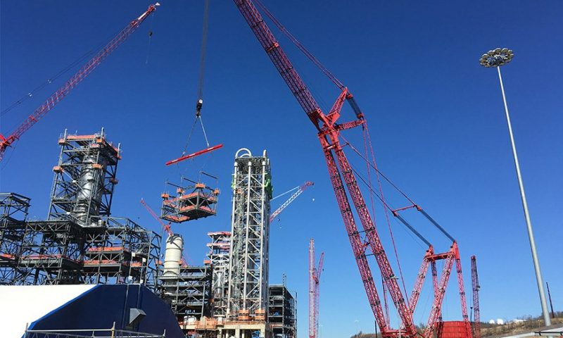 Mammoet Completes PTC Lifts at Petrochemical Plant in Pennsylvania