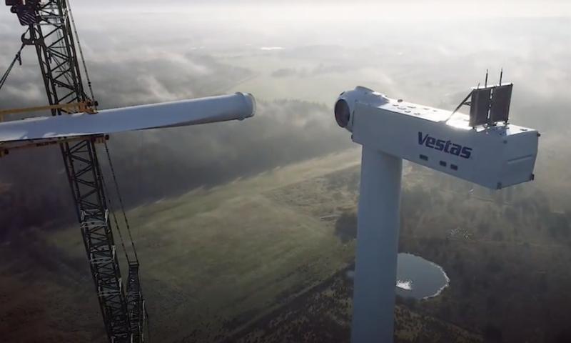 Vestas Debuts the New V162-6.0 MW Turbine in Finland