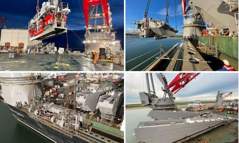 Allseas´ Jacket Lift System Begins to Take Shape on Board Pioneering Spirit