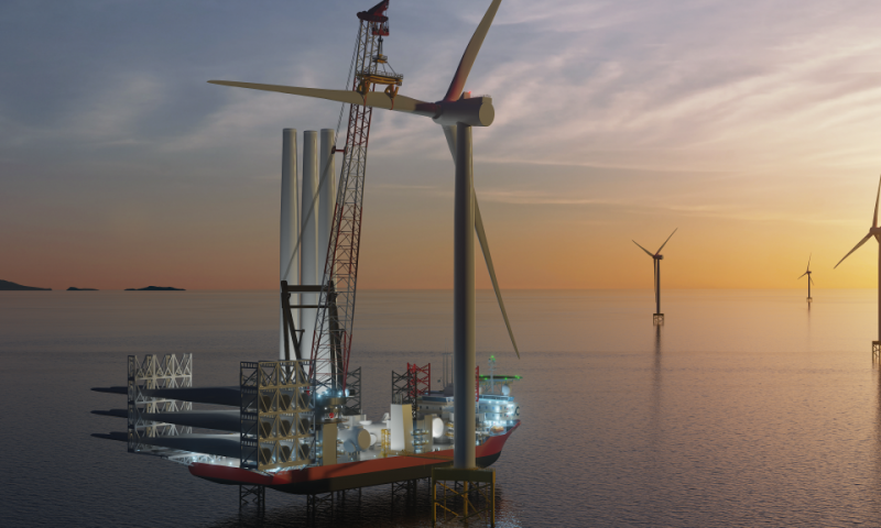 Cadeler A/S Orders New Improved Crane for Wind Orca