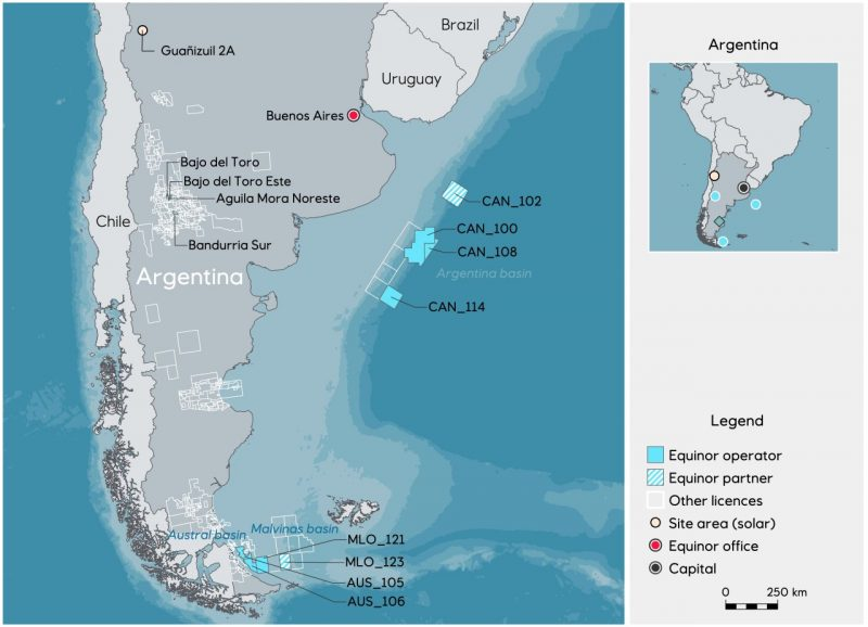 Equinor and YPF Partner with Shell in the CAN 100 Clock Offshore Argentina