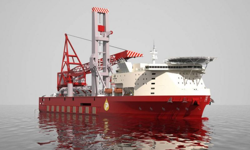 Ulstein Designed JSD6000 Heavylift Vessel Launched at ZPMC Qidong Shipyard