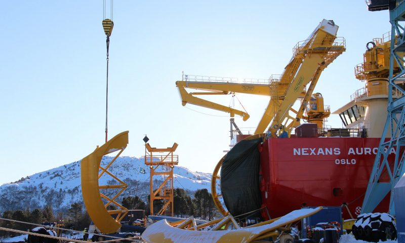 Steady Progress on Nexans Aurora at Ulstein