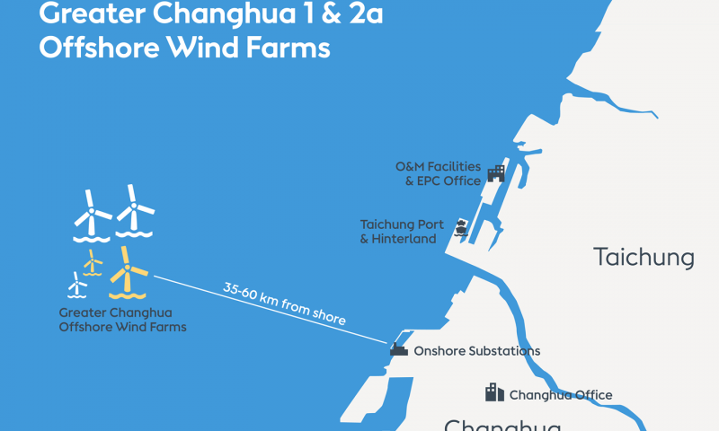 Ørsted Kicks Off Greater Changhua 1 & 2a Offshore Wind Farms in Taiwan