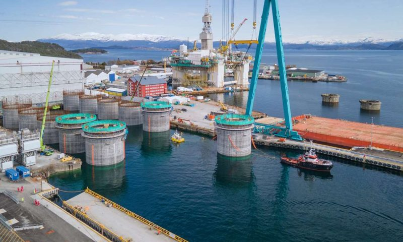 Aker Solutions Completes First Phase of the Hywind Tampen Construction