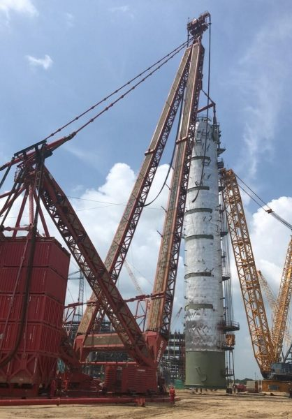 Mammoet Successfully Lifts Columns for Expansion Project