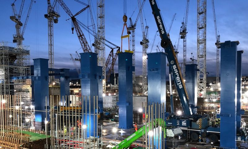 Sarens Installs 15 Turbine Generator Columns at Hinkley Point C