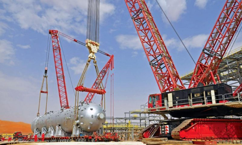 Mammoet Provides Handling Solutions for Saudi Aramco Gas Storage Project