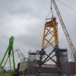 Navantia Finalizes Construction of First Jacket for Saint Brieuc Wind Farm