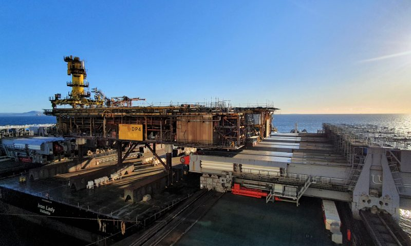 Pioneering Spirit Successfully Removed Morecambe Bay Topsides