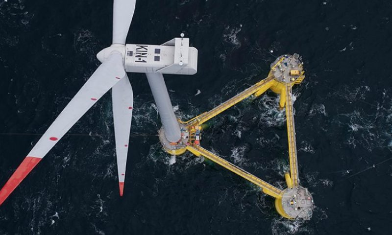 Bourbon Subsea Services Successfully Installed TetraSpar Floating Wind Turbine