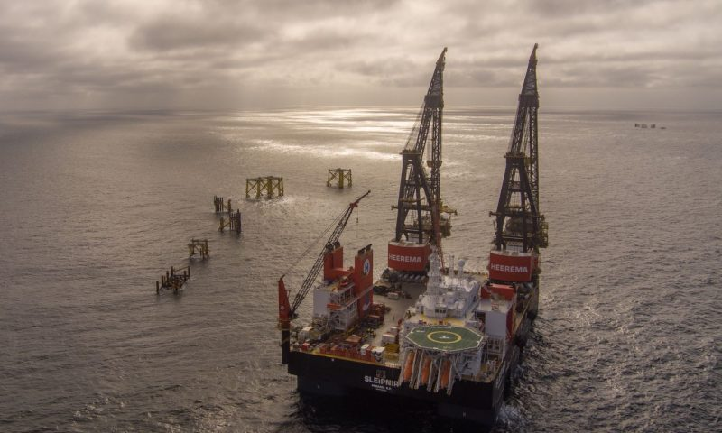 Offshore Heavy Lift Topside Installation by Total and Heerema Marine Contractors