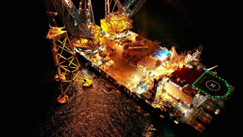 Seagreen Jacket Foundation Offshore Wind Saipem 7000