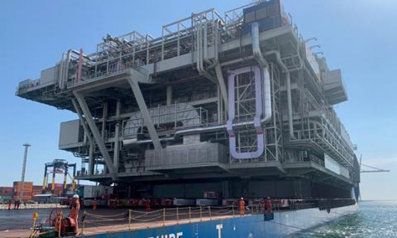 Mammoet Performs Loads-Out of Mega Main Support Frame Module